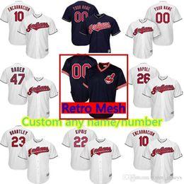 Cleveland Indians Cutsom Jersey 26 Mike Napoli 26 Austin Jackson 41 Carlos  Santana 47 Trevor Bauer 25 Jim Thome 22 Kipnis Baseball Jerseys bced975d1