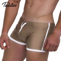 Taddlee Marca 2017 Uomo Run Sports Gym Shorts Allenamento Pantaloni corti Pantaloni Solido morbido esterno Boxer Trunks Gay supplier gay sport brand da gay sport di marca fornitori