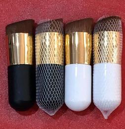 crème de nylon Promotion BB Crème Fond De Teint Pinceaux Tete Oblique Fond De Teint Pinceaux Maquillage Pinceau Nylon Maquillage Cheveux Pinceaux KKA6445