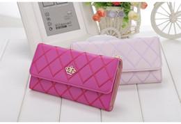 Damen Geldbörse überprüfen PU Leder lange Geldbörse Schnalle Handytasche Münze Tasche Karte Paket weibliche Handtasche von Fabrikanten