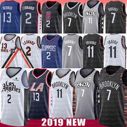 baloncesto paul Rebajas Kawhi NCAA 2 Leonard Jersey 7 Kevin Durant 11 Pablo Kyrie Irving 13 George 2019 nuevos Mens del bordado de la Universidad jerseys del baloncesto