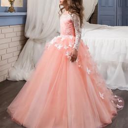 Infant Toddler Fleur Fille Robes 2019 Jewel Cou Cap Manches Black Lace Appliques Une Ligne Tulle Filles Pageant Robes ? partir de fabricateur