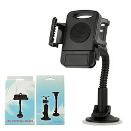 Telefono cellulare di base online-Base per parabrezza regolabile per supporto per parabrezza regolabile universale per parabrezza per Samsung Note9 S9 iPhone 8 X XS Max plus telefono cellulare