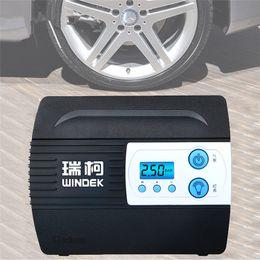 12v автомобильный компрессор Скидка Автомобильный воздушный компрессор, насос для накачки шин с предустановленным давлением в шинах и функцией автоматического останова накачки для шин 12V Digital