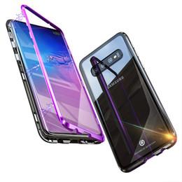 nuevos teléfonos de huawei Rebajas 2019 Nueva actualización de la caja del teléfono magnético para Samsung S10 + S10 S10e S9 S9 + Iphone Huawei P20 360 grados de fuerte protección magnética completa