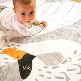 2019 coniglio di stuoia INS Carpet Baby Kids Gioco Gym Activity Gioca Mat Crawling Coperta Tappeto Tappeto Fox Deer Unicorn Rabbit Floor Carpet Diametro coniglio di stuoia economici