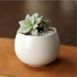 verre suspendu ornements de jardin Promotion pots de plantes succulentes en gros Décoratif Simple blanc mini pots de fleurs planteurs plante succulente en pot sur le bureau