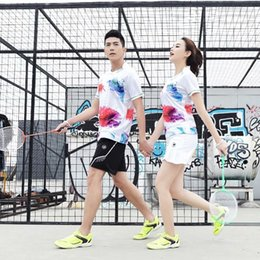 polyester badminton t shirts Promo Codes - 2019 Sports Quick Dry Breathable Badminton Shirt Women Men Table Tennis Professional Game Running Training Sportswear T Shirts