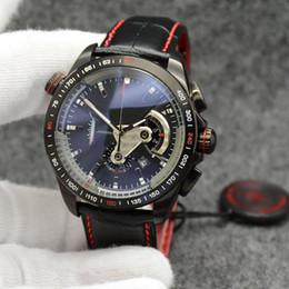 Canada Montres Hommes Chronographe 44MM Quartz Extérieur Montres Hommes Montre Tachymètre Échelle En Acier Inoxydable Lunette cheap tachymeter watch Offre