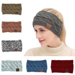Logo AA1024 ile Dot Çiçek Hairband Elastik Nefes Winter ile Kadın Kış Örme Kafa Sıcak Renkli Kadın Kafa nereden saç tokmak şeritleri tedarikçiler
