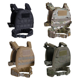Çocuk Çocuk Çocuk Bel Taşıyıcı Kemer Taktik Savaş Kemer Plaka ile Yelek Molle Giysileri Yelek nereden ordu üniformaları toptan satışı tedarikçiler