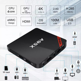 Receptor de tv dvb s online-Caja Nexbox A95X S905X Quad Core 4K original para Android Android 7.1 1GB DDR3 8GB EMMC VP9 Multi-Media Andriod tv caja