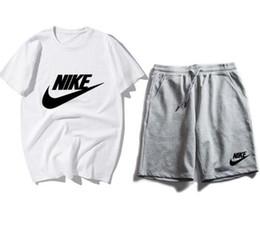 2019 Nouveautés T-shirt et short de survêtement homme d'été à manches courtes T-shirt à manches courtes décontracté Combinaison de sport à manches courtes pour hommes Col rond Sport ODRFESW ? partir de fabricateur