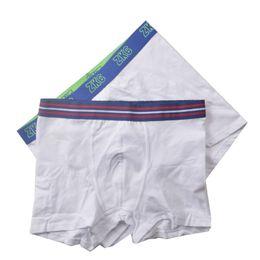 Meninos pugilistas brancos on-line-Meninos marca europeia sólido branco Tronco Esporte Boxers algodão Shorts crianças Briefs Criança Calcinhas Underwear Crianças Calças Baby 3-14Y 5 peças / lote