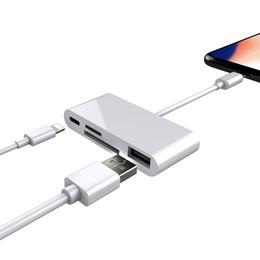 4 en 1 interface Apple pour adaptateur de lecteur de carte USB caméra fente de mémoire micro SD pour iPhone iPad ? partir de fabricateur