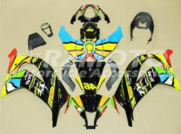 Zx 14 carenados online-3Gifts Nuevo kit de carenados de bicicleta de motocicleta ABS adecuado para kawasaki Ninja ZX-10R ZX10R 2011 2012 2013 2014 2015 11 12 13 14 15 arco iris fresco