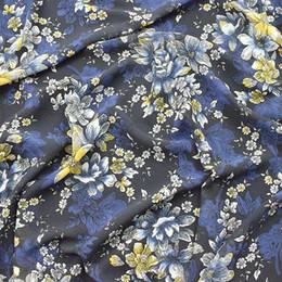 148 * 100cm blumendruck chiffon stoff für kleid, hemd, vorhang kissen material nähen sofa tischtuch patchwork von Fabrikanten