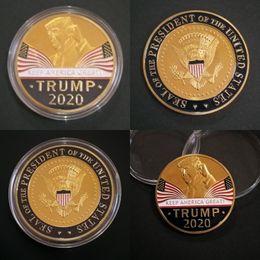 2019 bandiere della nazione Two Sides 2020 TRUMP KEEP AMERICA GREAT Souvenir Coins Metal Monete Nation Flags Stampa a getto d'inchiostro Monete Commemorative 3 5fy L1 bandiere della nazione economici