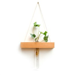 Vasi fatti a mano online-Vaso da parete in vetro provetta da giardino Vaso da fiori in vaso idroponico fatto a mano Decorazioni per la casa in stile giapponese