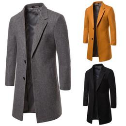 uomini di cappotto di trincea arancione Sconti Designer Mens all'ingrosso Abbigliamento Trench 2019 Winter Fashion simmetrica con pannelli monopetto Windbreaker Cappotti Giacche Uomo Cappotti