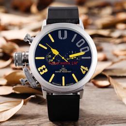 orologi a mano sinistra Sconti Moda Brand New Sport da uomo in gomma nera Classic U rotonda automatico meccanico mano sinistra gancio orologio Big 50mm orologi da uomo in barca