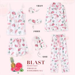 7 pcs Sleepwear For Girl Sleeping Clothes Pajama Set For Women Pyjama Set  Sleeping Suit Women 500 f8c4bb35f