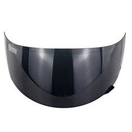 motorcycle helmets full face flip up Promo Codes - Helmet Visor Lightweight Full Face Lens Motorcycle Replacement Anti UV Windproof Detachable Front Flip Up For FF352 FF369 FF384