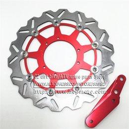 320 Flaoting Fren Disk Plakası Rotor + 4 Pot Kumpas HF6 CR125 CR250 CRF250 CRF450 Supermoto için Braket cheap disc rotors nereden disk rotorları tedarikçiler