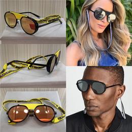 Sonnenbrille seil online-Neue Modedesigner-Sonnenbrille 2210 runden Retro-Rahmen mit Seil Farbe beschichtete Linse avantgardistische Stil uv400 Linse Top-Qualität Schutz Pop