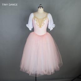 2019 costume del robot Ragazze e donne Ballerina vestito da ballo Puff maniche lunghe balletto romantico ballo Tutu 18703