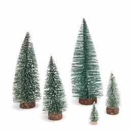 Decorazioni da party di 15 anni online-15-30cm Mini scrivania Albero di Natale Cedro Decorazione Piccoli alberi di Natale per decorazioni di Capodanno Articoli per feste