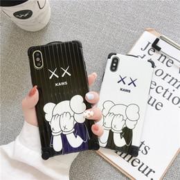 Оптовая творческий чемодан бампер чехол для дизайнера Iphone Чехол тонкий простой улыбающееся лицо шаблон для Iphone XS X XR XS MAX 8 Plus Case от Поставщики узорчатые чемоданы