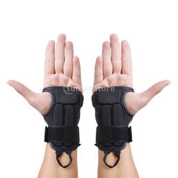 2019 guantes de guardia de muñeca 1 Par Snowboard Esquí Equipo de protección Guante Deporte Muñeca Soporte Guardia Brace M guantes de guardia de muñeca baratos