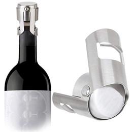 Sello de vacío tapón de champán online-Tapones de vino de acero inoxidable de vacío botella de vino sellada Tapones Plug presiona el tipo de Champagne Tapa StorageT2I5645