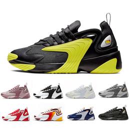 Regenbogen laufschuhe online-Nike Triple Black Creamy White Zoom 2K M2K men running shoes Tekno Race Red Royal Blue Dark Grey for men's women sports sneaker 36-45