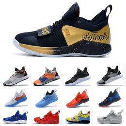 Designer Qualitäts Basketball Schuh Paul George Zoom PG 2 Sky Blue PG 2.5 Goldmeister NASA X PG 3 Größe 7 12