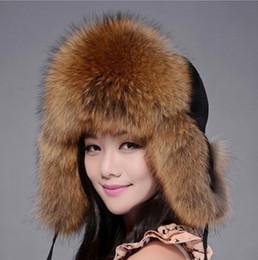 5d1ac724d4b ZDFURS 2016 Russian Winter Fox Fur Caps Raccoon Fur Hats Women Bomber Hats  Best Christmas Gift 8 Colors in Stock white fox fur hats on sale