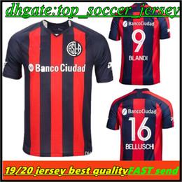 14543d7f24255 Acheter TOP QUALITY 19 20 Maillot De Foot San Lorenzo De Almagro Domicile  2019 2020 Argentine Maillot De Foot Extérieur De San Lorenzo CAUTERUCCIO  BLANCO De ...