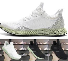 Calçados de cinza feminina on-line-2019 Futurecraft 4D Verde Tênis Para As Mulheres Dos Homens de Cinza Verde Triplo Preto Branco Dos Homens Designer Trainer Sneaker Esportes corredor Tamanho 40-45