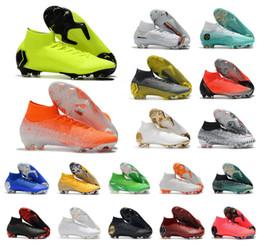 2019 botas de futebol de tamanho 12 2020 Mercurial Superfly VI 360 Elite FG KJ 6 XII 12 CR7 Ronaldo Neymar Homens Meninos chuteiras Botas de futebol chuteiras tamanho 35-45 botas de futebol de tamanho 12 barato