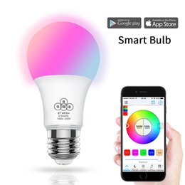 android bluetooth app Promo Codes - New Bluetooth Led Bulb 4.5W RGBW BT Mesh Net Group Smart Led Light Color Change Dimmable By IOS Android APP AC100-240V