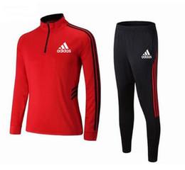 Novas roupas de futebol infantil terno de alta qualidade roupas infantis respirável meninos e meninas uniformes de treinamento da equipe de manga longa sportswe de