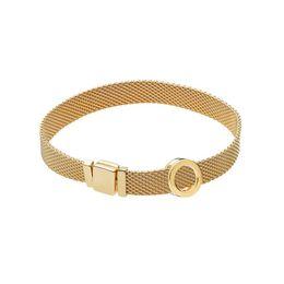 Nova moda intercambiáveis DIY senhoras cinta de malha de aço inoxidável 8 mm de largura charme pulseira jóias de vendas diretas de