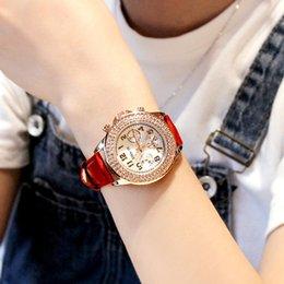 Canada Trois yeux six aiguilles ceinture montre de la mode loisirs étudiante montre femme quartz supplier three needles watch Offre