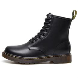 Martins Stiefel Größe der Männer britische Hoch Paar kurze Stiefel Winter plus Samt Lederstiefel für Männer und Frauen Motorradschuhe