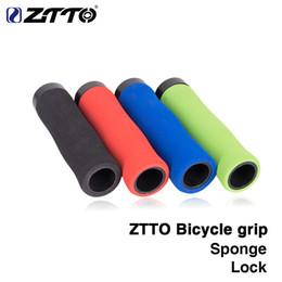 manípulo de carbono mate Desconto ZTTO 1 Par esponja Durável À Prova de Choque Anti-Slip LOCK Apertos Ergonomia design para MTB Bicicleta Dobrável Bicicleta BMX com Bar Plug AG28