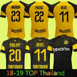 ffc7603af31 BVB Borussia Dortmund Soccer Jersey 2019 PHILIPP GOTZE REUS PULISIC WITSEL  Jersey 18 19 ISAK KAGAWA Football kit shirt camisa discount pulisic jersey