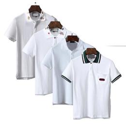 été 2019 designer Medusa polo tops marque de luxe marque imprimé serpent  vêtements hommes tissu lettre hommes polos collier casual hommes tee shirt  tops a4ebfaf502c