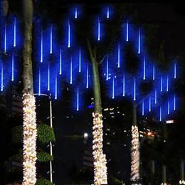 lumières de tube de pluie de douche Promotion Edison2011 2017 8 PCS / Set Neige LED Bande Lumière Noël Pluie Tube Meteor Douche Pluie LED Lumière Tubes 100-240 V UE / US / UK / AU Plug