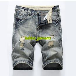 nouveau jeans pour hommes Promotion Brand New Summer Trends Mens Wash droites Mens Designer Jeans Mens Casual Shorts Slim Hommes Designer Fashion Trou Shorts